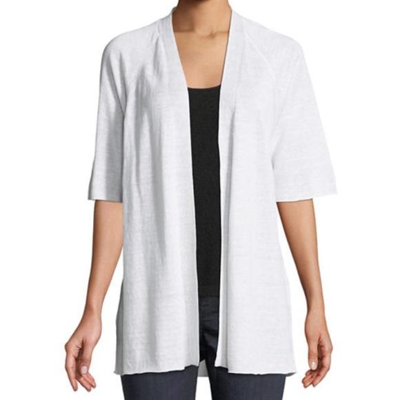 3efec762048 Eileen Fisher Sweaters - Eileen Fisher Half Sleeve Organic Linen Cardigan L